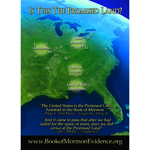Heartland Reference Map by Rod Meldrum | Book of Mormon
