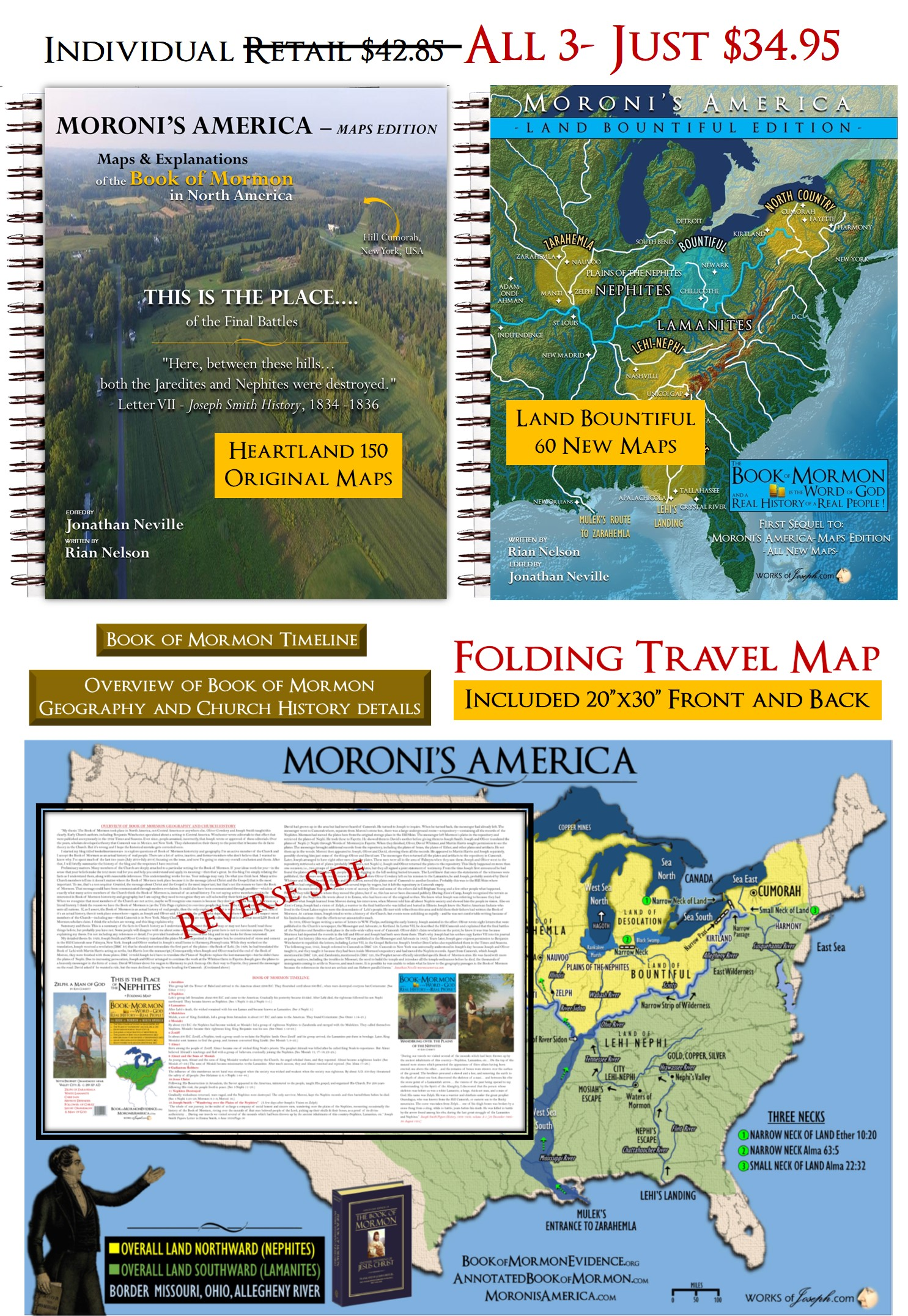 Heartland Florida Map.Moroni S America Heartland Map Package Both Map Book S Travel Map