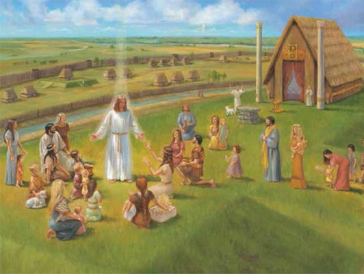 Christ Visites the Nephites in Americas Heartland LR