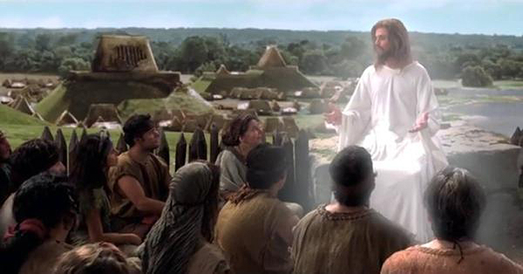 Christ Teaches Nephites in America